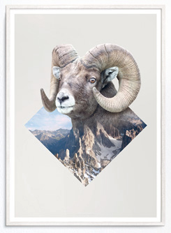 Faunascapes Geometric Art Print Ram